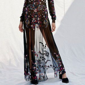 For Love and Lemons Ester Embroidered Maxi - NEW